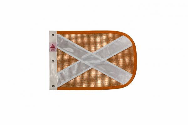 bandeira pequena laranja refletiva  branca cópia