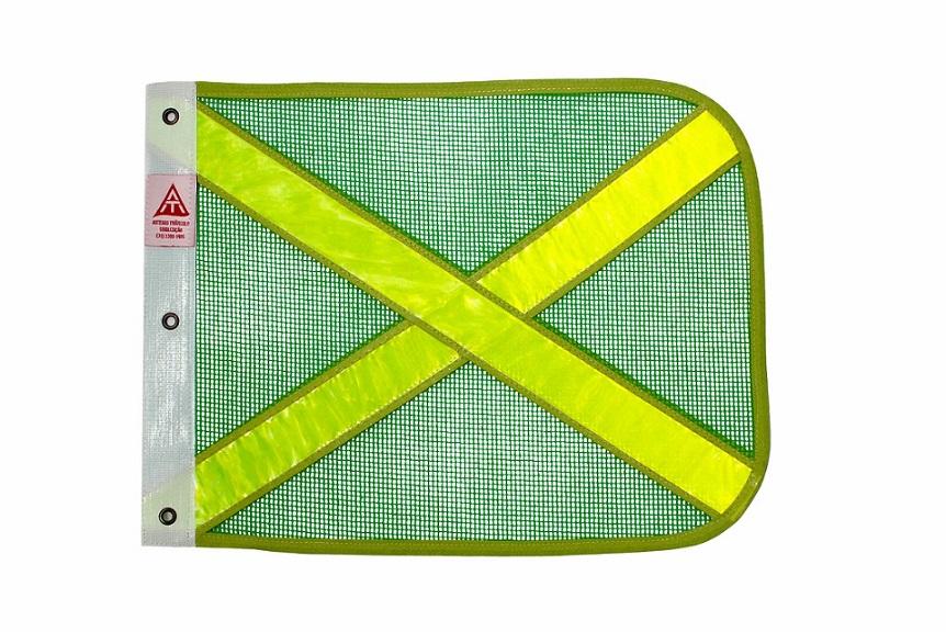 bandeira verde refletiva amarela cópia